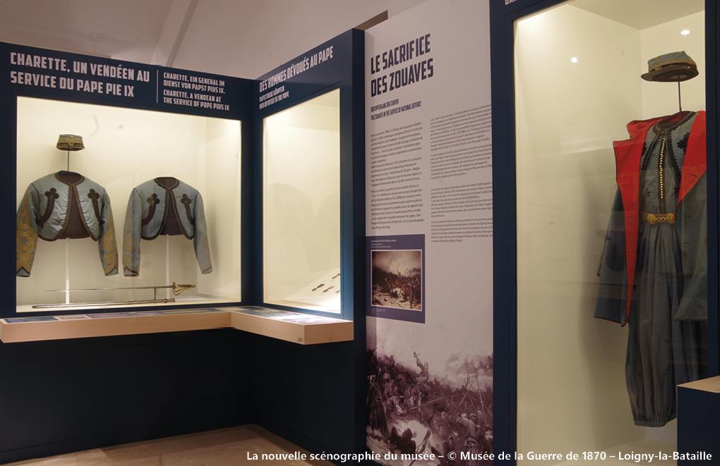 La nouvelle scénographie du musée – © Musée de la Guerre de 1870 – Loigny-la-Bataille
