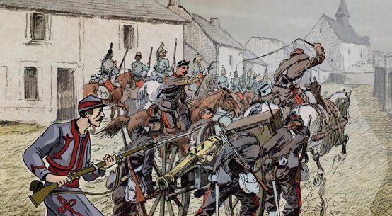 Extrait du spectacle immersif du musée – © Musée de la Guerre de 1870 – Loigny-la-Bataille